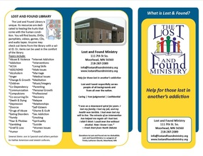 Lost and Found Recovery Center brochure
